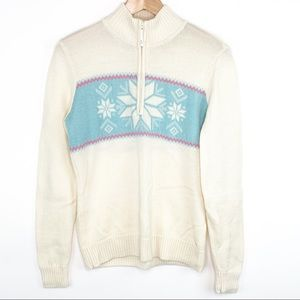 Vineyard Vines Wool Snowflake 1/4 Zip Sweater Lrg